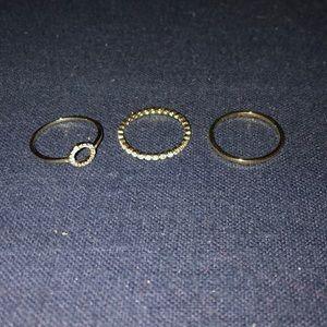 Club Monaco stackable rings